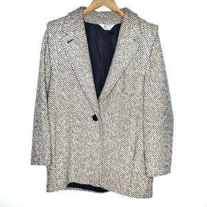 70s Braefair Vintage Tweed Oversized Wool Coat L